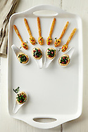 Cracker Spoons with Pimento Cheese and Bite-Sized Grits and Greens