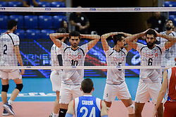 September 12, 2018 - Varna, Bulgaria - The National volleyball team of Iran during Iran vs Puerto Rico, pool D, during 2018 FIVB Volleyball Men's World Championship Italy-Bulgaria 2018, Varna, Bulgaria on September 12, 2018  (Credit Image: © Hristo Rusev/NurPhoto/ZUMA Press)