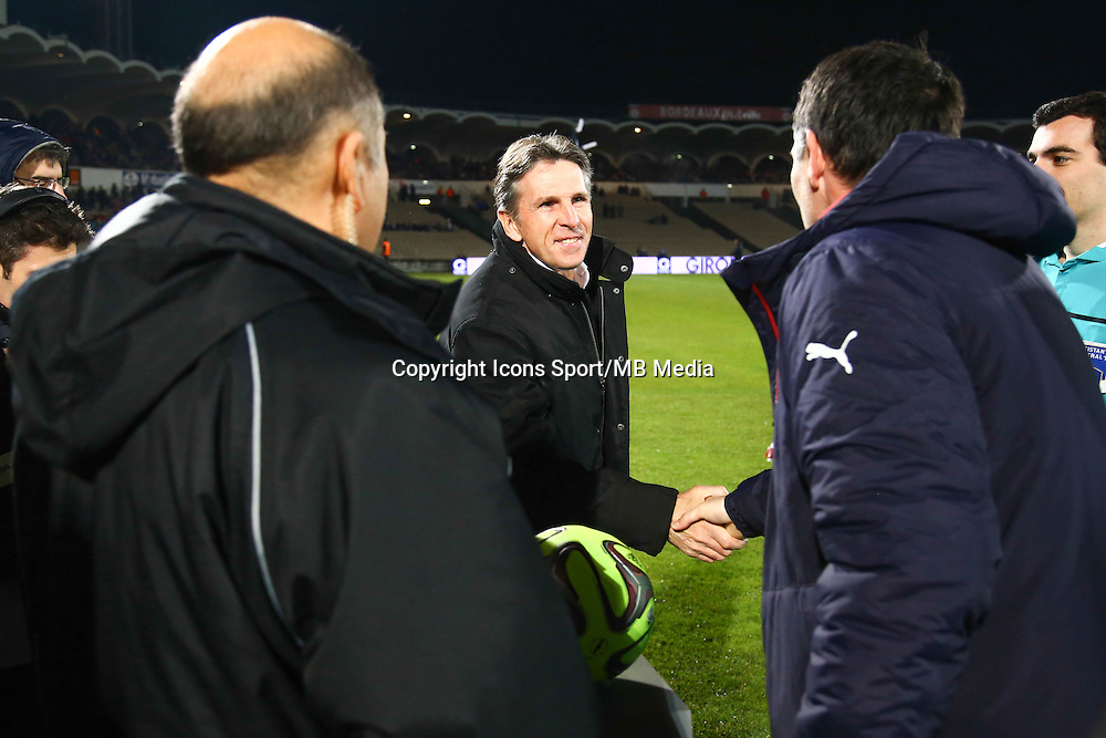 Claude Puel / Willy Sagnol - 16.01.2015 - Bordeaux / Nice - 21e journee Ligue 1<br />