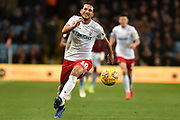 Nottingham Forest forward Joao Carvalho (10) sprints forward with the ball during the EFL Sky Bet Championship match between Aston Villa and Nottingham Forest at Villa Park, Birmingham, England on 28 November 2018.