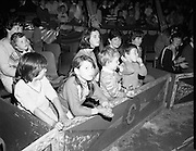 08.09.1984<br /> 09.08.1984.<br /> 8th September 1984.<br /> Chipperfield's circus performed before packed houses in Mullingar, Co Westmeath.<br /> <br /> Picture of children getting ready for the performance.
