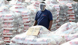 South Africa - Durban -  16 April 2020 -  With millions of South African households struggling under the financial strain of the Covid-19 lockdown, NGO's, are doing their bit to help by distributing food hampers across the country.  Picture Leon Lestrade/African News Agency(ANA)