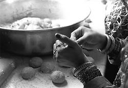 Woman preparing food,