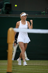 © Licensed to London News Pictures. 25/06/2014. LONDON, UK Wimbledon Tennis Championships 2014<br /> Day 3. Caroline Wozniacki of Denmark.  Photo credit : Mike King/LNP