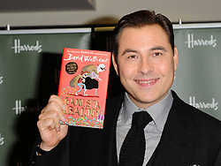David Walliams signs  copies of his children's novel 'Gangsta Granny' at Harrods in London on Saturday, 3rd December 2011.  Photo by: i-Images