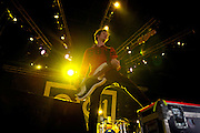 Sum 41 performing at the Q101 Jamboree at the First Midwest Bank Amphitheater in Tinley Park, IL on June 4, 2011