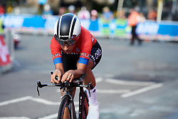 Catalina Anais Soto Campos (CHI) at UCI Road World Championships 2019 Junior Women's TT a 13.7 km individual time trial in Harrogate, United Kingdom on September 23, 2019. Photo by Sean Robinson/velofocus.com