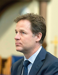 ***LNP HIGHLIGHTS OF THE WEEK ***  © Licensed to London News Pictures. 20/05/2014. Oxford, UK Deputy Prime Minister and Leader of the Liberal Democrsts, Nick Clegg, holds a question and answer session as part of his 2014 European and Local Election tour with members of the public at Wesley Memorial Church in Oxford today 20th May 2014. Photo credit : Stephen Simpson/LNP