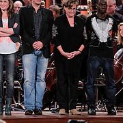 NLD/Haarlem/20121002- Opname AVRO's programma Maestro, Brecht van Hulten, Kleine Viezerik, Catherine Keyl, Joep Sertons