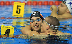 Matjaz Markic and Emil Tahirovic, Men`s 50m Breaststroke, at 3rd day at Semifinals of LEN European Short Course Swimming Championships Rijeka 2008, on December 13, 2008,  in Kantrida pool, Rijeka, Croatia. (Foto: Vid Ponikvar / Sportida)