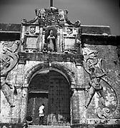 Gate of St. Jerome Fort In Daman.<br /> Portal do Forte de S. Jeronimo<br /> 1968