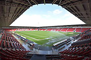 Doncaster Rovers Keepmoat Stadium before  the Sky Bet League 1 match between Doncaster Rovers and Wigan Athletic at the Keepmoat Stadium, Doncaster, England on 16 April 2016. Photo by Ian Lyall.
