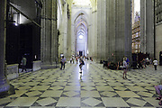 inside the Sevilla Cathedral