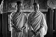 The older Nun on the right, Daw Kula Thanda runs this monastery. Nuns at a monastery in Nyaung Shwe.