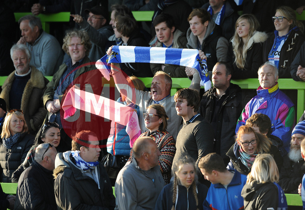 Bristol Rovers fan - Photo mandatory by-line: Dougie Allward/JMP - Mobile: 07966 386802 - 29/04/2015 - SPORT - Football - Nailsworth - The New Lawn - Forest Green Rovers v Bristol Rovers - Vanarama Football Conference