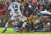 Stuart McInally takes the ball to ground during the Heineken Champions Cup match between Edinburgh Rugby and Montpellier Herault Rugby at BT Murrayfield Stadium, Edinburgh, Scotland on 18 January 2019.
