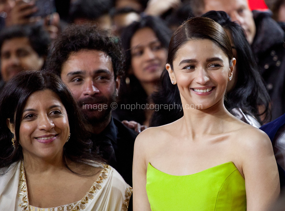 Actress Alia Bhatt (right) at the premiere gala screening of the film Gully Boy at the Berlinale International Film Festival, on Saturday 9th February 2019, Berlin, Germany.