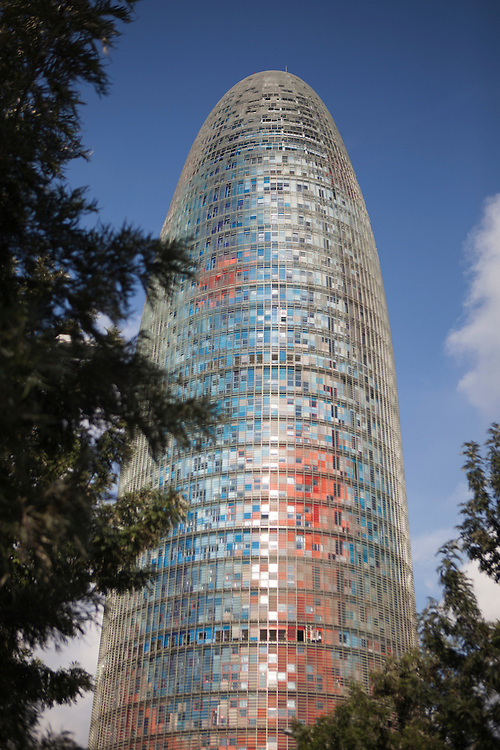 The Agbar tower is a 38-story skyscraper, headquarter ofthe Barcelona water Company (Agbar). It was designed by French architect Jean Nouvel in association with the Spanish firm B720 Arquitectos. The buidling is located in the Poblenou neighbourhood of Barcelona.