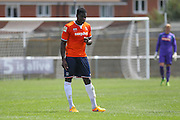 Luton Town Magnus Okuonghae during the Pre-Season Friendly match between Peacehaven & Telscombe and Luton Town at the Peacehaven Football Club, Peacehaven, United Kingdom on 18 July 2015. Photo by Phil Duncan.