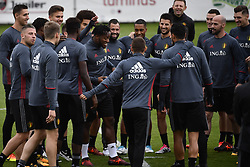 October 2, 2017 - Tubize, BELGIUM - Belgium's players pictured during a training of Belgian national soccer team Red Devils, Monday 02 October 2017 in Tubize. The Red Devils will play a World Championships 2018 Qualification game against Bosnia on October 7th and against Cyprus on October 10th...BELGA PHOTO DIRK WAEM (Credit Image: © Dirk Waem/Belga via ZUMA Press)