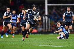 27th April 2019 , Principality Stadium , Cardiff, Wales ; Guinness pro 14's, Round 21, Cardiff Blues Vs Ospreys ; Dan Evans of Ospreys in action during todays match<br /> <br /> Credit :  Craig Thomas/Replay Images