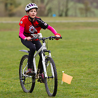 Carla Griffin, from Ennis Tru Club, cycling in the National Duathlon Championship held in Lees Road, Ennis