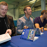 St Johnstone's Brian Easton, Chris Millar, Lee Croft and Murray Davidson at the launch of 'Our Day In May' which tells the story of St Johnstone's Scottish Cup win exactly one year ago today...17.05.15<br /> Picture by Graeme Hart.<br /> Copyright Perthshire Picture Agency<br /> Tel: 01738 623350  Mobile: 07990 594431