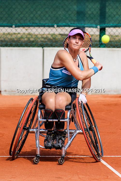 Katharina Krueger (GER), 28. German Open - Wheelchair Tennis, BTTC Gr&uuml;n-Wei&szlig;, Berlin<br /> <br /> Tennis - 28.German Open - Wheelchair Tennis - ITF -   BTTC Gr&uuml;n-Wei&szlig; Berlin - Berlin - Berlin - Germany  - 24 July 2016.