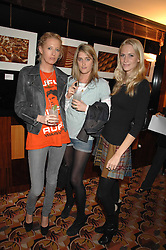 Left to right, the HON.SOPHIA HESKETH, VIOLET VON WESTENHOLTZ and POPPY DELEVINGNE at an exhibition of photographs by Olivia Buckingham held at China Tang, The Dorchester, Park Lane London on 5th March 2007.<br />