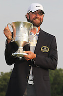 May 8,2011 - The trophy, the jacket, the smile.  Lucas Glover wins the tournament in sudden death over Jonathan Byrd at Quail Hollow Country Club,Charlotte,NC.