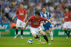 WIGAN, ENGLAND - Sunday, May 11, 2008: Manchester United's Ji-Sung Park in action against Wigan Athletic during the final Premiership match of the season at the JJB Stadium. (Photo by David Rawcliffe/Propaganda)