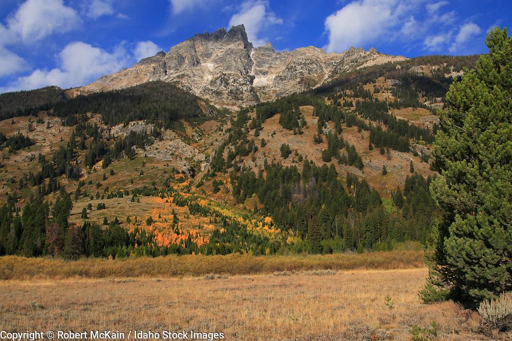 WYOMING. Teton National Park. Teton mountain range in autumn. September 2008 #lm080149