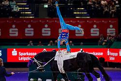 HEILAND Jannik (GER), Dark Beluga<br /> Leipzig - Partner Pferd 2020<br /> FEI Top Indoors Vaulting Masters (CVI)<br /> 1. und 2. Umlauf Herren, international<br /> 18. Januar 2020<br /> © www.sportfotos-lafrentz.de/Stefan Lafrentz