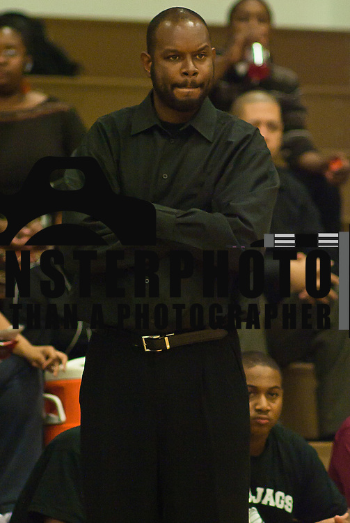 12/14/11 Wilmington DE: Appoquinimink Head Coach Spencer Dunkley during a game against Delcastle Tech Wednesday Dec. 14, 2011 at Delcastle Technical High School in Wilmington Delaware.<br /> <br /> Special to The News Journal/SAQUAN STIMPSON