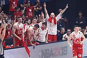 Esultanza panchina Milano, EA7 EMPORIO ARMANI OLIMPIA MILANO vs DOLOMITI ENERGIA TRENTINO, gara 5 Finale Play off Lega Basket Serie A 2017/2018, Mediolanum Forum, Assago (MI) 13 giugno 2018 - FOTO: Bertani/Ciamillo