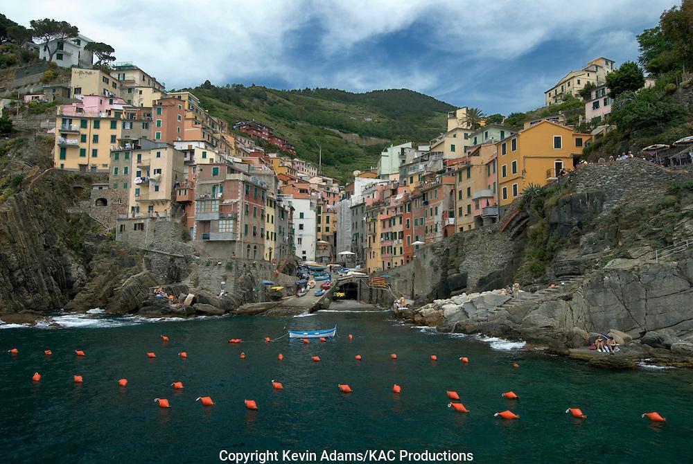 38_03_02_04294.Riomaggiore, Italy, one of the Cinque Terre villages on the Italian Riviera of the Ligurian Sea.
