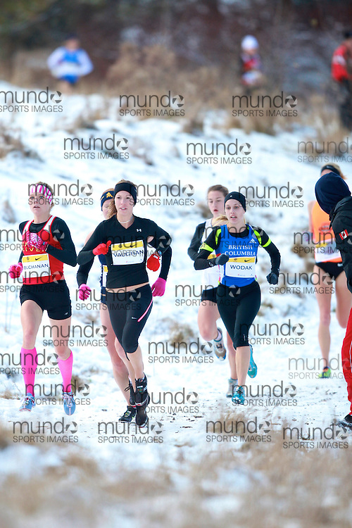 Kate Vaughan  of Nautilus Running Club runs in the senior women's race at the 2010 AGSI Cross Country Championships in Guelph, Ontario, November 27, 2010..GEOFF ROBINS/ Mundo Sport Images