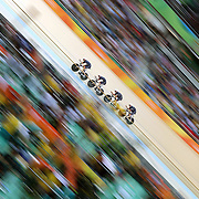 Track Cycling - Olympics: Day 6  The Great Britain team of Edward Clancy #10, Steven Burke #98, Owain Doull #99 and Bradley Wiggins #104 in action during the Men's Team Pursuit first round in the track cycling competition at the Rio Olympic Velodrome August 12, 2016 in Rio de Janeiro, Brazil. (Photo by Tim Clayton/Corbis via Getty Images)