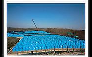 スエーデンの写真雑誌 &quot;Kamera &amp; bild&quot;<br /> クリスティーナ ショーグレンの特集記事<br /> 最初のページ 見開きで2ページ<br /> 福島県志田妙で撮影<br /> <br /> 10 000 bag with contaminated soil are temporary being stored in Chidayo village, 27km from the Fukushima nuclear plant. After five years the bags are going to be moved closer to the nuclear plant in Futaba.