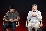 04.DECEMBER.2012. LONDON<br /> <br /> ANG LEE AND SURAJ SHARMA ATTEND MEET THE FILM MAKERS AT THE APPLE STORE ON REGENT STREET<br /> <br /> BYLINE: EDBIMAGEARCHIVE.CO.UK<br /> <br /> *THIS IMAGE IS STRICTLY FOR UK NEWSPAPERS AND MAGAZINES ONLY*<br /> *FOR WORLD WIDE SALES AND WEB USE PLEASE CONTACT EDBIMAGEARCHIVE - 0208 954 5968*