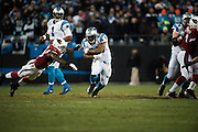 January 24, 2016: Carolina Panthers vs Arizona Cardinals. Jonathan Stewart
