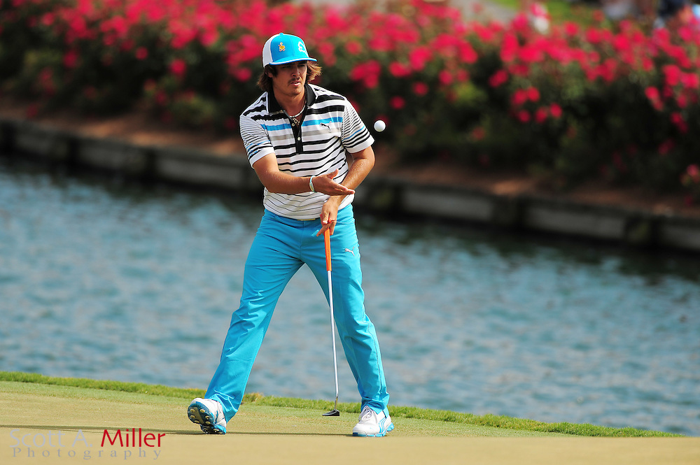 Rickie Fowler during the third round of the Players Championship at the TPC Sawgrass on May 12, 2012 in Ponte Vedra, Fla. ..©2012 Scott A. Miller..