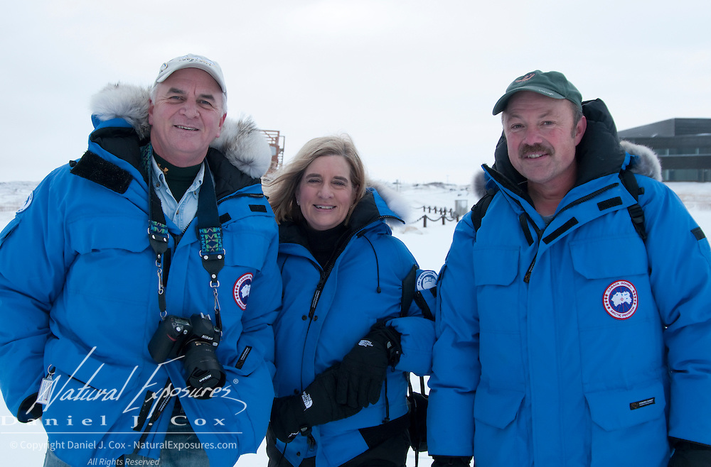 Don Moore, Julene Reed and Tom Smith of PBI in Churchill.