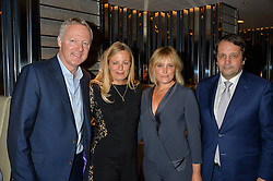 Left to right, RORY BREMNER, ASTRID HARBORD, MIKA SIMMONS and SYLVAIN ERCOLI at a dinner to celebrate the start of The Season held at Rivea, Bulgari Hotel, 171 Kightsbridge, London on 18th May 2016.