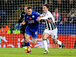 Andy King of Leicester City runs past Craig Gardner of West Bromwich Albion - Mandatory by-line: Robbie Stephenson/JMP - 06/11/2016 - FOOTBALL - King Power Stadium - Leicester, England - Leicester City v West Bromwich Albion - Premier League