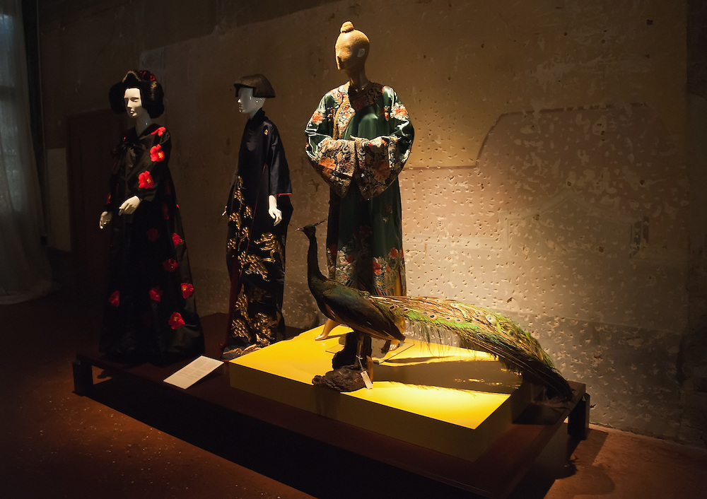 "VENICE, ITALY - MARCH 09:  Dresses by Fortuny, Schiapparelli and Chanel on display at the press preview of ""Diana Vreeland After Diana Vreeland"" at Palazzo Fortuny on March 9, 2012 in Venice, Italy. This is the first major exhibition to be dedicated to Diana Vreeland. Open until June 25th it will explore the many sides of her work and seek to offer a fresh approach with which to interpret the elements of her style and thinking."