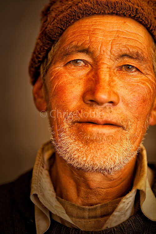 Portait of a man in Rangdum Zanskar, Ladakh India.