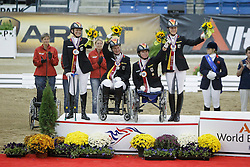 Team Germany silver medal<br /> Hannelore Brenner (GER) - Women of the World<br /> Britta näpel (GER) - Aquimona 3<br /> Juliane Theuring (GER) - Empaque IV<br /> Dr Angelika Trabert (GER) - Ariva-Avanti<br /> Alltech FEI World Equestrian Games <br /> Lexington - Kentucky 2010<br /> © Dirk Caremans