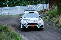 2019-09-07 | Linköping, Sweden: Christoffer Haglund / Jens Jakobsson during East Rally Sweden / Rally SM  at Linköping ( Photo by: Simon Holmgren | Swe Press Photo )<br /> <br /> Keywords: Linköping, Linköping, Rally, East Rally Sweden / Rally SM, ,