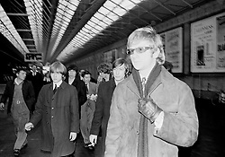 The Rolling Stones Charlie is my Darling - Ireland 1965..The Rolling Stones and manager Andrew Loog Oldham arriving at Amiens Street station (now Connolly station) for thier concert at the Adelphi Theatre, Middle Abbey Street, Dublin. This was the band's first Irish tour of 1965...The Rolling Stones Charlie is my Darling - Ireland 1965.Out November 2nd from ABKCO.Super Deluxe Box Set/Blu-ray and DVD Details Revealed. ..07/01/1965.01/07/1965.07 January 1965...ABKCO Films is proud to join in the celebration of the Rolling Stones 50th Anniversary by announcing exclusive details of the release of the legendary, but never before officially released film, The Rolling Stones Charlie is my Darling - Ireland 1965.  The film marked the cinematic debut of the band, and will be released in Super Deluxe Box Set, Blu-ray and DVD configurations on November 2nd (5th in UK & 6th in North America).. .The Rolling Stones Charlie is my Darling - Ireland 1965 was shot on a quick weekend tour of Ireland just weeks after ?(I Can't Get No) Satisfaction? hit # 1 on the charts and became the international anthem for an entire generation.  Charlie is my Darling is an intimate, behind-the-scenes diary of life on the road with the young Rolling Stones featuring the first professionally filmed concert performances of the band's long and storied touring career, documenting the early frenzy of their fans and the riots their live performances incited.. .Charlie is my Darling showcases dramatic concert footage - including electrifying performances of ?The Last Time,? ?Time Is On My Side? and the first ever concert performance of the Stones counterculture classic, ?(I Can't Get No) Satisfaction.?  Candid, off-the-cuff interviews are juxtaposed with revealing, comical scenes of the band goofing around with each other. It's also an insider's glimpse into the band's developing musical style by blending blues, R&B and rock-n-roll riffs, and the film captures the spark about to combust into The Greatest Ro